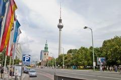 Torre da tevê em Berlim Foto de Stock