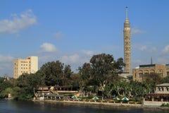 A torre da tevê do Cairo Fotografia de Stock