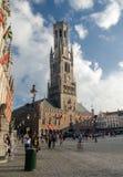 Torre da torre de sino em Bruges bélgica Imagens de Stock