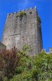 A torre da torreta do castelo mura Obidos Portugal Imagem de Stock
