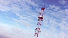 Torre da transmissão video estoque