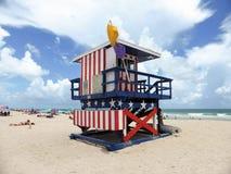 Torre da vigia da bandeira americana Imagens de Stock