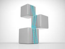 Torre dai cubi - raggiunga il vostro scopo Fotografia Stock Libera da Diritti