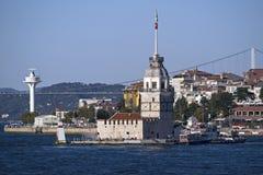 Torre das donzelas em Istambul, Turquia Fotos de Stock Royalty Free