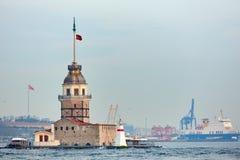 A torre das donzelas Istambul, Turquia Imagem de Stock