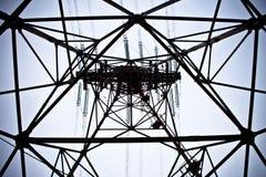 Torre das linhas eléctricas Foto de Stock