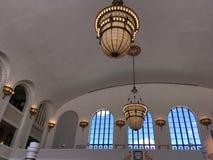 Torre das luzes e das janelas imagens de stock