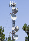 Torre das telecomunicações Fotos de Stock Royalty Free