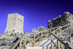 Torre de圣埃伦娜, La Azohia,穆尔西亚,西班牙 免版税库存照片