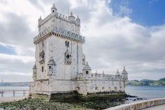 Torre de贝拉母-里斯本,葡萄牙著名地标  免版税库存图片