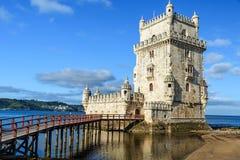 Torre de贝拉母-里斯本,葡萄牙著名地标  库存照片