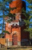 Torre de água da estação de trem Imagem de Stock Royalty Free
