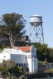 Torre de água da ilha de Alcatraz Imagens de Stock