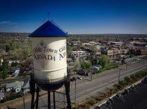 Torre de água de Arvada da cidade de Olde Imagens de Stock Royalty Free