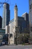Torre de água de Chicago Fotografia de Stock Royalty Free