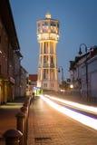 Torre de água de madeira velha em Siofok, Hungria imagem de stock royalty free