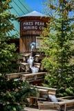 Torre de água de mineração máxima do Co dos piques imagens de stock