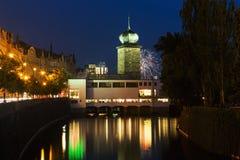 Torre de água de Sitkovska perto das jubas em Praga, República Checa Imagem de Stock