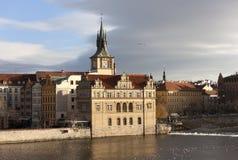 Torre de água de Staromestske praga República checa Fotos de Stock Royalty Free
