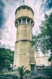 Torre de água histórica dentro em termas de Piestany, filtro análogo fotos de stock royalty free
