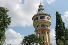 Torre de água no parque em budapest Foto de Stock