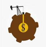 Torre de óleo, ícone da produção de petróleo Foto de Stock Royalty Free