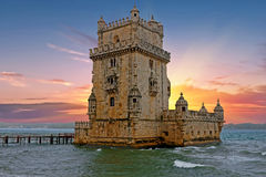 Torre de贝拉母,里斯本葡萄牙 库存照片