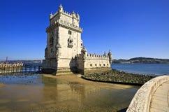 里斯本Torre de贝拉母,葡萄牙 库存图片
