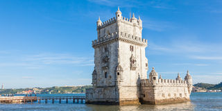 贝拉母塔- Torre de贝拉母在里斯本,葡萄牙 免版税库存图片