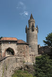 A torre de Adolf no castelo de Friedberg, Hesse, Alemanha Imagem de Stock Royalty Free