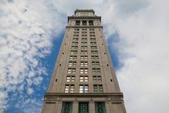 Torre de aduanas de Boston por la última tarde Fotografía de archivo