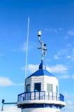 Torre de advertência azul Foto de Stock Royalty Free