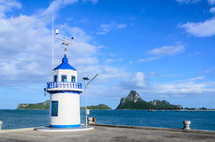 Torre de advertência azul Imagens de Stock Royalty Free