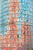 A torre de Agbar, Barcelona, Spain. Imagens de Stock