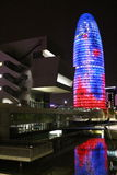 Torre de Agbar de las glorias imágenes de archivo libres de regalías