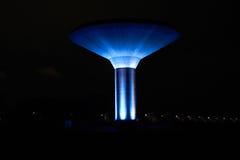 Torre de agua azul Fotografía de archivo