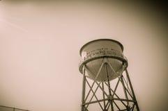Torre de agua de Alcatraz Fotos de archivo