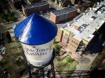 Torre de agua de Arvada de la ciudad de Olde Fotografía de archivo