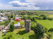 Torre de agua de Cantacuzino en Floresti, Prahova, Rumania fotos de archivo
