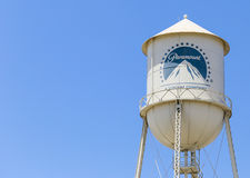 Torre de agua de los estudios de Paramount Fotos de archivo