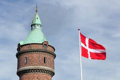 Torre de agua en Aarhus Imagen de archivo