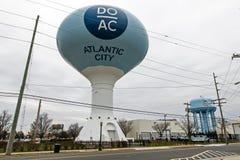 Torre de agua en Atlantic City Imágenes de archivo libres de regalías