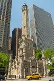 Torre de agua en Chicago fotos de archivo