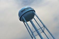 Torre de agua en Winesburg, Ohio foto de archivo libre de regalías