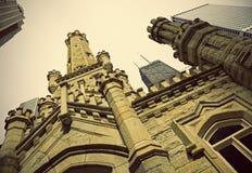 Torre de agua histórica en Chicago fotos de archivo
