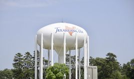 Torre de agua de Texarkana fotografía de archivo