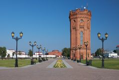 Torre de agua Tobolsk Kremlin Tobolsk Tyumen Oblast Rusia fotos de archivo libres de regalías