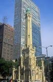 1869 torre de agua vieja de Chicago, Chicago, Illinois Imágenes de archivo libres de regalías