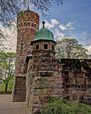 Torre de agua vieja, Suecia en HDR Imágenes de archivo libres de regalías