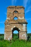 Torre de alarma arruinada del templo viejo Imagen de archivo